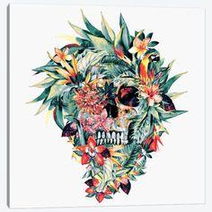 Momento Mori, Canvas Artwork, Canvas Art Prints, Canvas Frame, Skull Wallpaper, Wallpaper Space, Floral Skull Tattoos, Wolf Sleeve, Dark Images