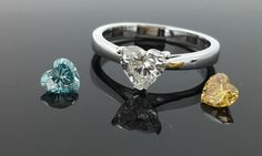 For whoever your hearts desires this Valentine's Day, say it with diamonds.  #yellowdiamond #bluediamond www.robinsmoore.co.uk