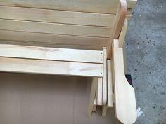 BATIKO ist die Gartentisch-Gartenbank-Kombination aus Naturholz geölt - Gartenmöbel mit Pfiff Folding Picnic Table Bench, Diy Picnic Table, Picnic Table Plans, Wooden Bench Plans, Woodworking Projects Diy, Lanterns, Projects To Try, How To Plan, Furniture