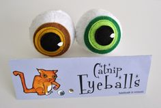 Cat Toy  Catnip Eyeballs Pair  Catnip  Pet Toy by hannapt on Etsy, $10.00  HAHA! this is pretty funny