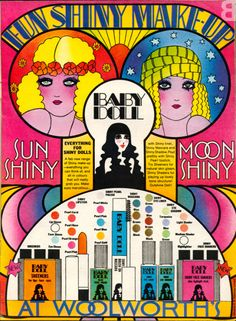 Woolworths Baby Doll make-up. Space Age cosmetics at Earthly prices