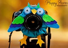 what an adorable ornament to put on your camera for childrens attention!