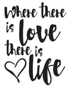 Gandhi Print / Gandhi Quote / Where There Is Love by MadKittyMedia