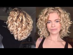 I'm sharing with you a little about my hairstyle and cut. This isn't really a how to video but, more of a guideline of the structure of my cut. Technically s. Short Curly Cuts, Short Curls, Medium Curly, Medium Hair Cuts, Curly Hair Care, Wavy Hair, Her Hair, Curly Hair Styles, Fine Hair Cuts