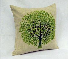 Hey, I found this really awesome Etsy listing at https://www.etsy.com/listing/127290803/1-country-style-linen-green-tree-and - Decorative Throw Pillows Unique Designer Fashion Home Decor Beautiful Covering Patterns Unique Colorful