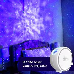 Transform Any Room with SKY Lite Instantly change the mood with this plug-and-play galaxy projector! Neon Bedroom, Room Ideas Bedroom, Bedroom Themes, Room Decor Bedroom, Galaxy Bedroom Ideas, Night Bedroom, Dorm Room, Bedrooms, Decoration Inspiration