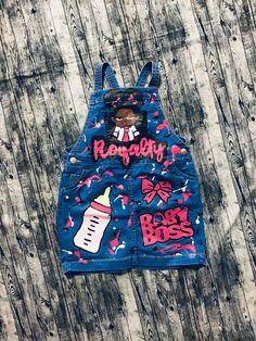 Girl Baby Boss cartoon inspired custom birthday or photo shoot handpainted denim overalls / shortalls Baby Girl Birthday Outfit, Minnie Mouse Birthday Outfit, Birthday Outfit For Women, Birthday Party Outfits, Baby Birthday, Birthday Shirts, Tutu Outfits, Kids Outfits, Baby Moana Costume