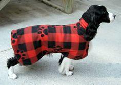 Warming Robe (Fleece & Stretch Terry with Velcro Closure) http://dogrobe.com #dog
