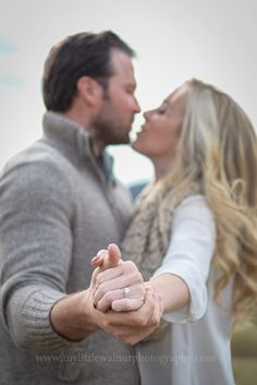 We never took a ring shot for our engagement photos, so this would be lovely! Taken by My Little Walnut Photography in Lynchburg, Virginia. Winter Engagement Photos, Engagement Photo Outfits, Fall Engagement, Engagement Couple, Engagement Shoots, Country Engagement, Proposal Pictures, Proposal Ideas, Couple Photography