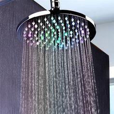 Pomme de douche LED Salle de bains 7 couleurs changeant robinet d/'eau Glow