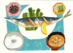 さんま定食 yasuko hayakawa
