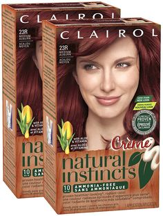 Clairol Natural Instincts, 23R, Rasberry Creme, Medium Auburn, 2 pk *** Click image to review more details.