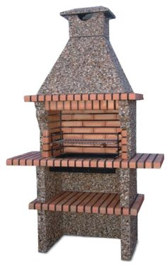 Picture of Portuguese Brick BBQ Outdoor Bbq Kitchen, Outdoor Barbeque, Mexican Style Kitchens, Brick Bbq, Fire Pit Designs, Grill Design, Outdoor Living, Outdoor Decor, Raised Garden Beds