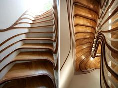 We're constantly running across photos of truly jaw dropping staircases. So much of the time, stairs look as if they were ignored until the last minute of