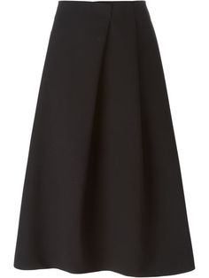 Shop Jil Sander A-line midi skirt in Caron from the world's best independent…