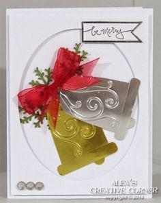 Alex's Creative Corner: Silver Bells Christmas Card