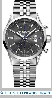 7735-ST-60001 Raymond Weil Freelancer Gray Dial Chronograph Automatic Stainless Steel Mens Watch