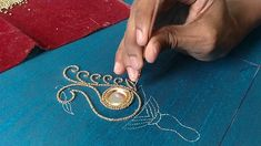 Small bead embroidery work slow motion video