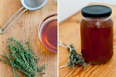 Thyme-infused water acts as a floral base for this herbal cough syrup that's sweetened with soothing honey.