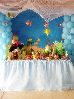 Espectacular decoración para fiesta bajo el mar