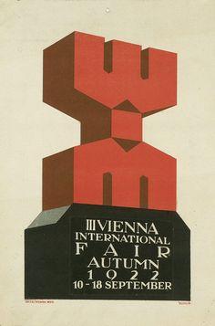 Typographic poster design, circa 1922