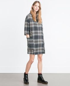 ZARA - WOMAN - FRAYED EDGE DRESS