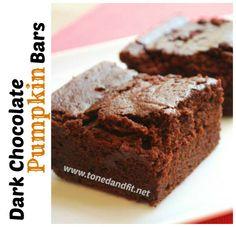 Dark Chocolate Pumpkin Bars {Gluten Free & Vegan}