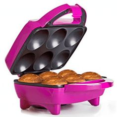 Holstein Housewares Fun Cupcake Maker - Magenta >>> To view further for this item, visit the image link. Dessert Makers, Cake Makers, How To Make Cupcakes, Yummy Cupcakes, Making Cupcakes, Cupcake Maker, Mini Donut Recipes, Vera Bradley, Pull Apart Cupcake Cake