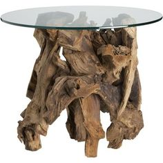 Crate & Barrel Driftwood Side Table