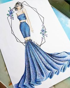 Fashion Sketches 417216352983288350 - Source by mouasso Dress Design Drawing, Dress Design Sketches, Fashion Design Sketchbook, Dress Drawing, Fashion Design Drawings, Fashion Sketches, Drawing Clothes, Art Sketchbook, Wedding Dress Sketches