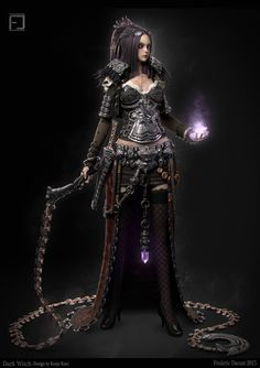 Dark witch, Frederic Daoust on ArtStation at https://www.artstation.com/artwork/dark-witch-0465b923-ee7e-4bed-bd6a-eb8b53827070