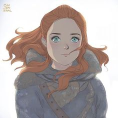 'Ygritte' ('Just said by eyes' Series) by Janenonself Arte Game Of Thrones, Game Of Thrones Westeros, Game Of Thrones Artwork, Game Of Thrones Quotes, Cersei Lannister, Sansa Stark, Character Costumes, Character Art, Cartoon Drawings