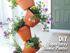 Looking for a striking DIY garden project that you can whip up in an afternoon? Add some height and visual drama with this easy-peasy, topsy-turvy planter.