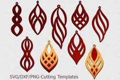 leather earring templates - Google Search