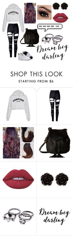 """""""Untitled #119"""" by punkrock-girl ❤ liked on Polyvore featuring WithChic, Lucky Brand, Lime Crime and Erica Lyons"""