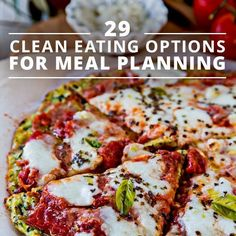 29 Clean Eating Recipe Options for Meal Planning. These are delicious! #cleaneatingrecipes #mealplans