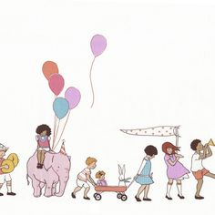 DC5140 on parade multi cream baloons kids bicyckles party pink little baby kids girls dress up dresses pink lilac dolls children at play sarah jane playhouse shoes accessories clothing vintage