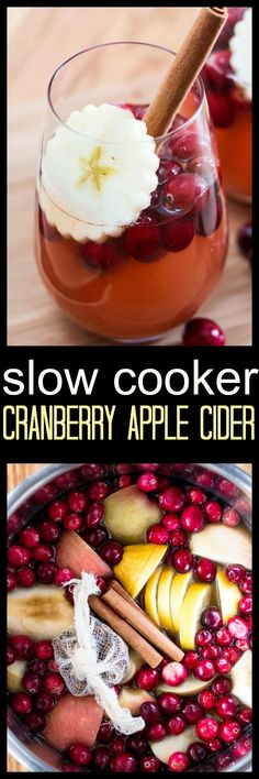 Slow Cooker Cranberry Apple Cider makes for the perfect Holiday drink. It is fragrant and delicious, requires only a handful of seasonal ingredients and about 2 minutes of hands on time. Come home to Fall in a glass and get the warm and fuzzies.  via @wholefoodbellies