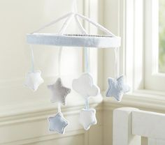 Blue Stars and Clouds Crib Mobile #pbkids