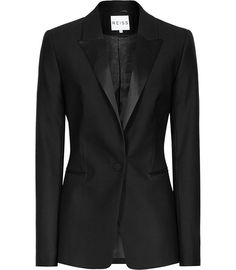 Womens Black Slim-fit Wool Blazer - Reiss Pfeiffer https://elenisworld.wordpress.com/2014/12/10/hot-right-now-ankle-boots-2/