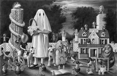 Surreal Drawings not for Children. See more art and information about Amandine Urruty, Press the Image.