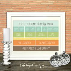 Modern Family Tree Art Print by Designkandy on Etsy, $39.00