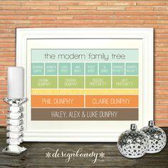 Modern Family Tree Art Print by Designkandy on Etsy, $39.00
