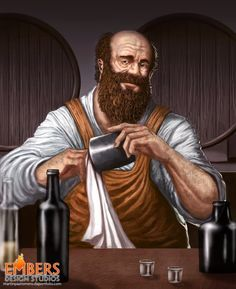 Clyde Barksdale - Barman at The Drake's Head in Estirol - Uncle to Dolores