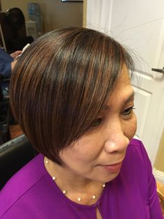 Perfect highlights for dark brown hair! Call it caramel, chestnut, whatever...it's actually an iridescent reddish beige!