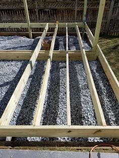 DIY Floating Deck in a Sloped Backyard