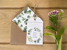Save The Date Luggage Tags // wedding // invitation // botanical // save the date cards Discount Wedding Invitations, Wedding Invitation Suite, Wedding Stationary, Invitation Design, Wedding Save The Dates, Save The Date Cards, Luggage Tags Wedding, Wedding Abroad, Cards