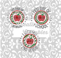 SVG Back to School 2nd Grade for  Silhouette or other craft cutters (.svg/.dxf/.eps)