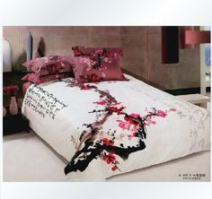 I found Classical White And Red Cotton Duvet Cover Oriental Bedding Set' on Wish, check it out! Bedroom Themes, Bedroom Decor, Bedroom Ideas, Bedrooms, Japanese Interior Design, Asian Interior, Chinese Design, Oriental Decor, Oriental Bedroom
