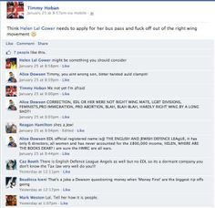 Until #EDL slide completely out of view, I can still rely on Hel Gower for dodgy filler material.